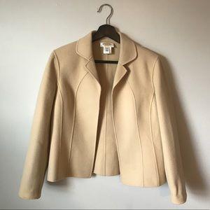 Talbots | Lightweight Wool Blend Open Front Blazer